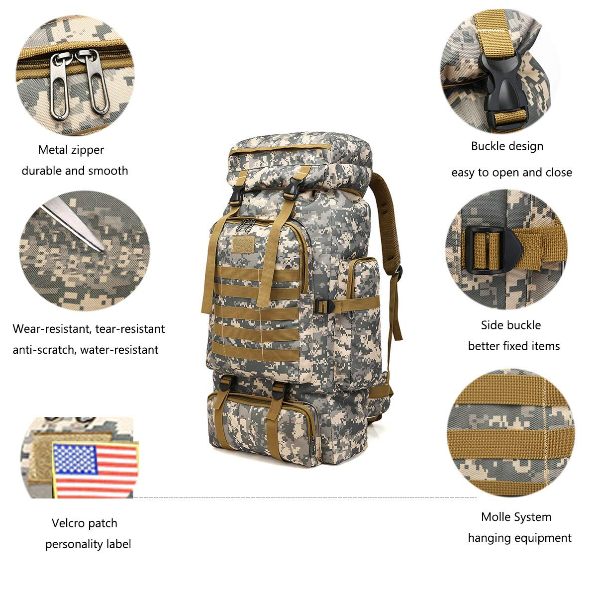Customized ColorsTactical Military Backpack