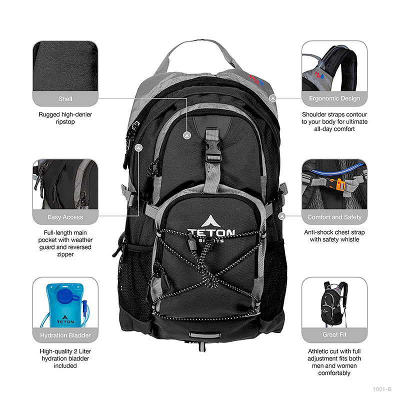 Cycling hydration backpack waterproof