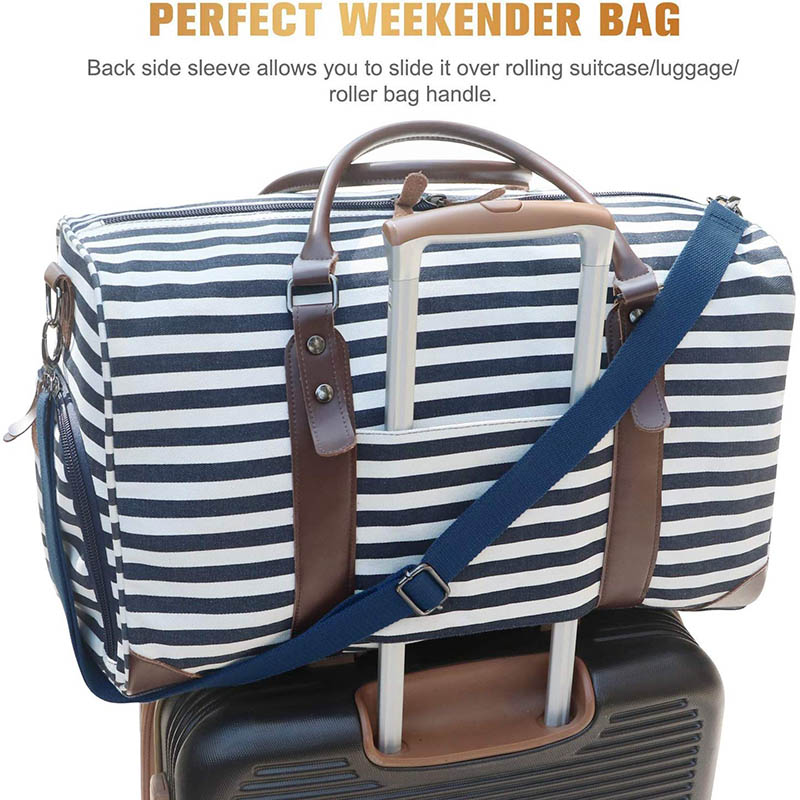 Stripe Print Delicate Luggage Sleeve