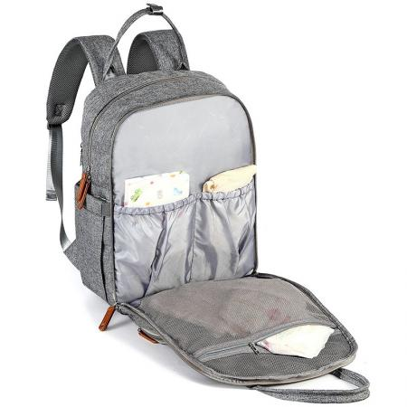 Gray Diaper Bag Backpack
