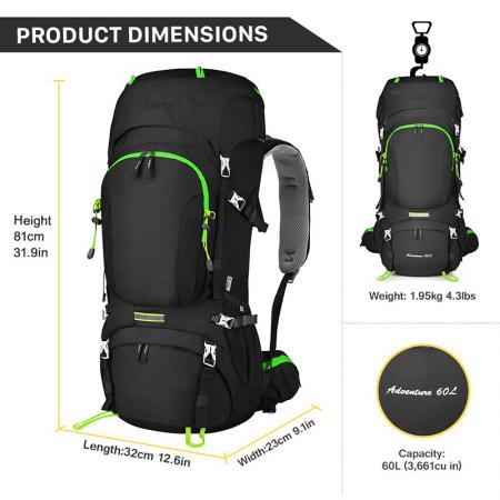 Hiking Backpack with Rain Cover