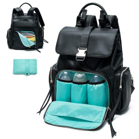 Women Leather Diaper Backpack