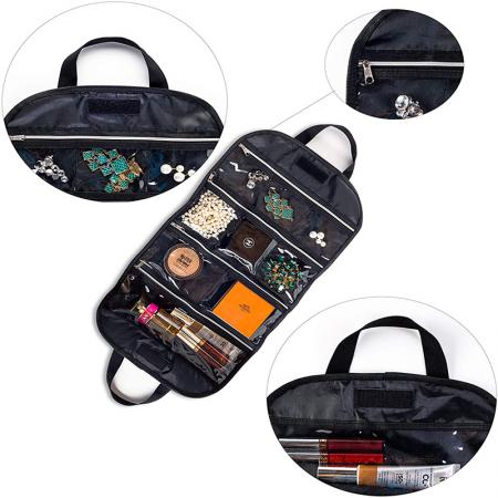 professional cosmetic organizer bag,makeup bag with compartments